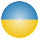 country, european, flag, national, ukraine icon