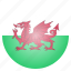 country, european, flag, national, wales icon