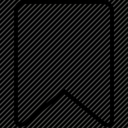 bookmark, favorite, mark, page, ribbon, tag icon