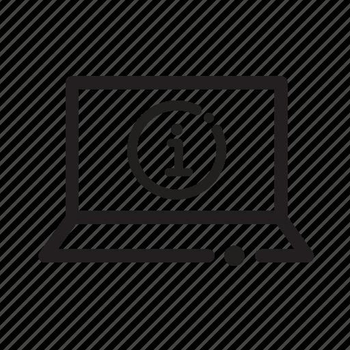 computer, info, internet search, web icon