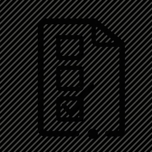 box, essay, search, survey, test icon