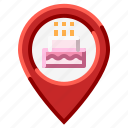 location, map, party, pin icon