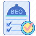 beo, document, list, tick icon