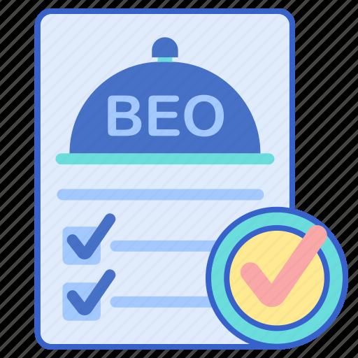 beo, document, list, tick icon