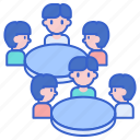 table, arrangement, banquet, seating icon