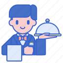 banquet, captain, food, waiter icon