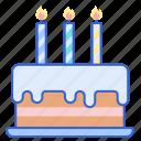 birthday, cake, candle, celebration