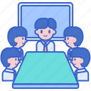 board, discuss, meeting, team icon