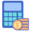 budget, calculator, finance, money icon