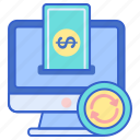 finance, money, payment, processing icon