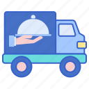 catering, delivery, food, truck icon