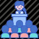 conferences, podium, presentation, seminar