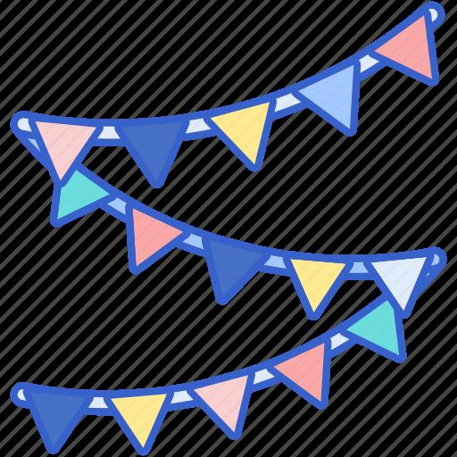 celebration, decoration, flag, party icon