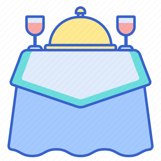 banquet, dressed, serve, table icon
