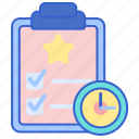event, listing, schedule, time icon