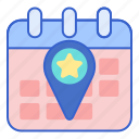 event, location, navigation, pin icon