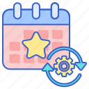 calendar, event, production, schedule icon