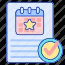 calendar, document, event, project