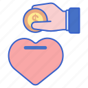 charity, donation, fundraiser, heart icon