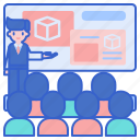 general, lecture, presentation, session icon