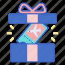 gift, incentive, present, travel icon