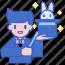 hat, magic, magician, performer icon