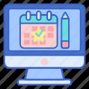 calendar, event, online, registration icon