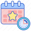 calendar, event, schedule, time icon
