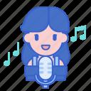microphone, music, recording, singer