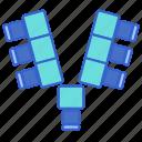 arrangement, seating, shape, v icon