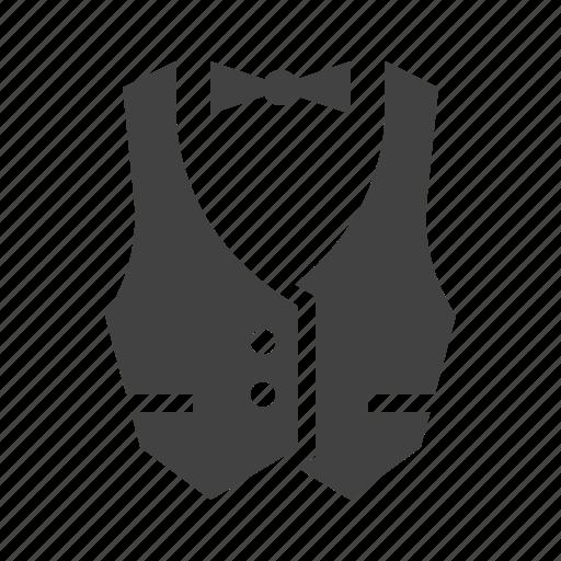 catering, service, staff, suit, vest, waiter icon