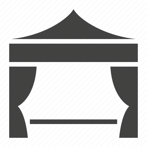 marquee, pavilion, show, tent, trade icon