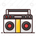 audio tape, cassette, cassette player, mainframe tape, mix tape, player, recording device icon