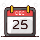 christmas, christmas date, date, daybook, docket, event calendar, yearbook icon
