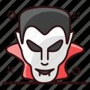 dracula, dracula face, face, halloween dracula, male dracula, vampire icon