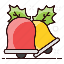 alarm bell, christmas bell, hand bell, jingle, jingle bell, sleigh bell, temple bell icon