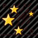 astrology stars, galaxy stars, planets, space stars, stars falling stars icon