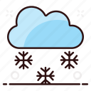 blizzard, freezing rain, hail weather, heavy snow, snow, snow shower icon