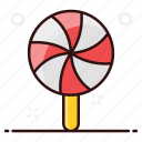 lollipop, lolly, rainbow lolly, spiral, spiral lolly, swirl lolly icon