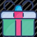 birthday gift, box, gift, present, ribbon, shopping, wedding gift icon