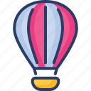 air, atomic, balloon, delivery, fly, parachute, supply icon