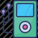 player, music, headphones, ipod