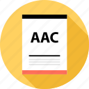 aac, document, file icon