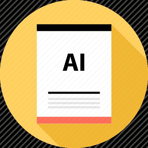 ai vector, document, file icon