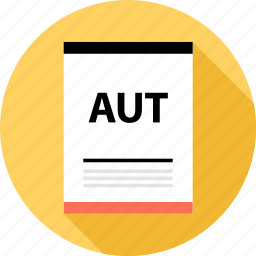 aut, document, file icon