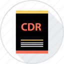 cdr, document, file icon