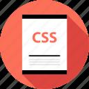 css, document, file icon