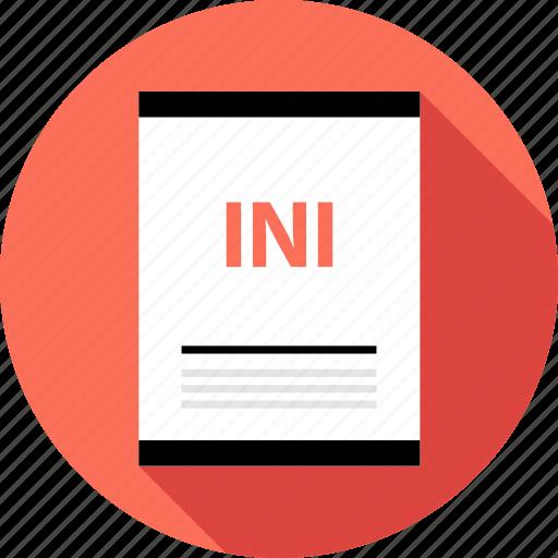 document, file, ini icon