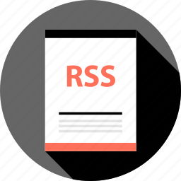 document, file, rss icon