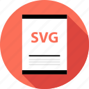 document, file, svg illustrator icon